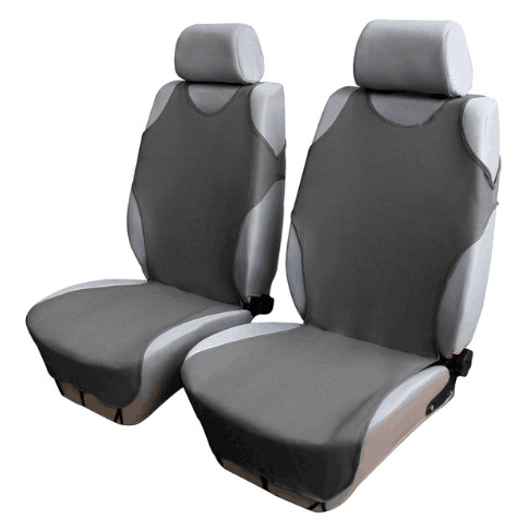 Car Front Breathable Seat Covers Gray