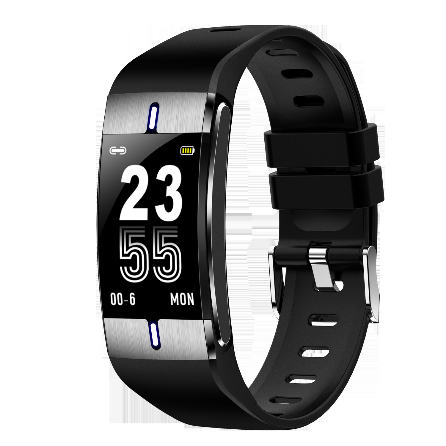 BM08 Smart Bracelet Sports Heart Rate Blood Pressure Sleeping Quality Monitoring Notification Push Watch black