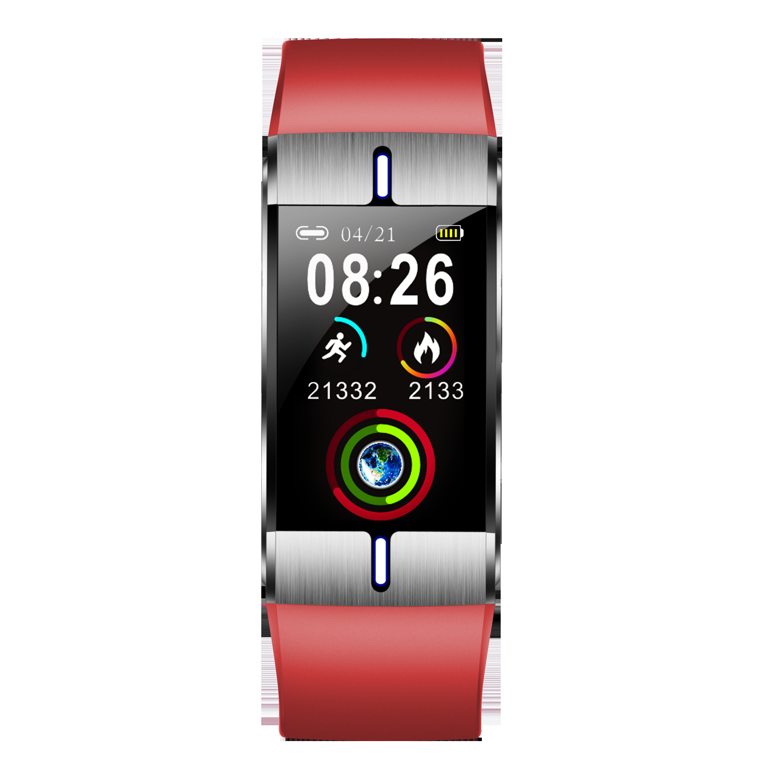 BM08 Smart Bracelet Sports Heart Rate Blood Pressure Sleeping Quality Monitoring Notification Push Watch red