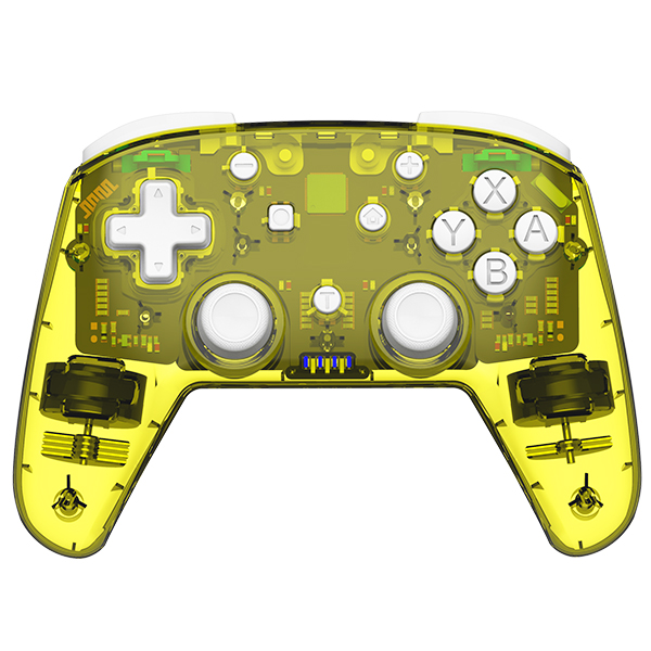 Game Controller Dual Motor Powerful Vibration Mode Bluetooth Gameppad Plastic for Switch Pro yellow