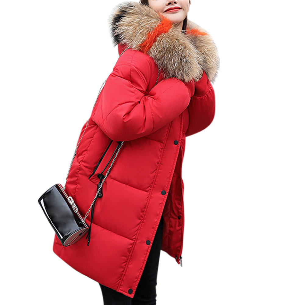 Women Warm Cotton Padded Jacket Fashionable Hooded Winter Coat red_XXXL