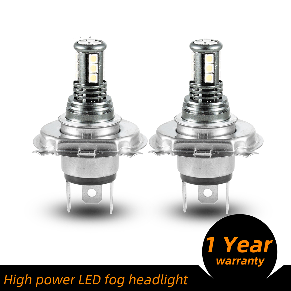 1 Pair Aluminum Car Led High-brightness Fog Lamp Headlights Waterproof Fog Lights H4