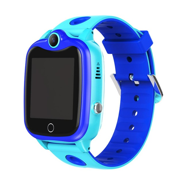 D06 Children Watch IP67 Waterproof Digital Kids Wristwatch SOS Call Boys Girls Smart Locator Anti Loss Monitor Blue