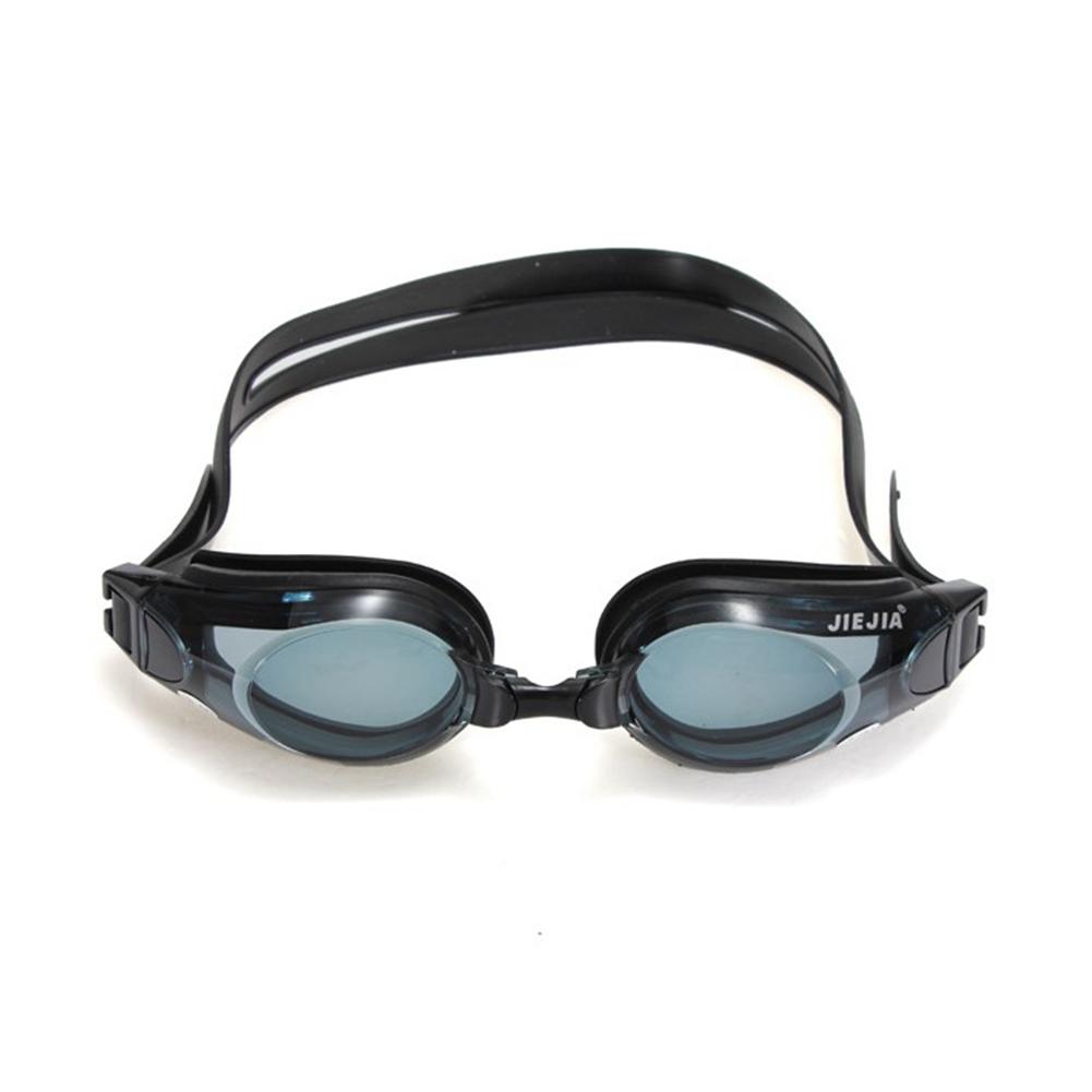 Unisex Waterproof Antifog Ultraviolet-proof HD Myopia Swimming Goggles Black