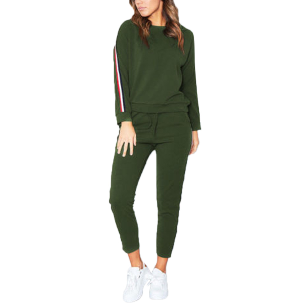 Women Casual Color Matching Sports Suit Leisure Sports Fitness Suit