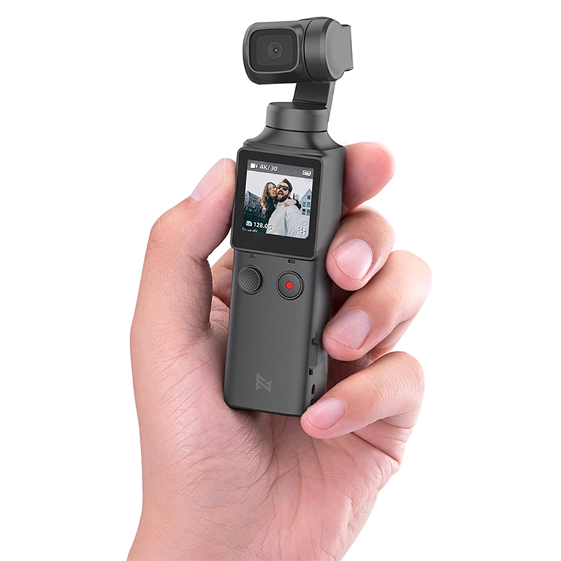 FIMI PALM 3-Axis 4K HD Handheld Gimbal Camera Pocket Stabilizer 128° Super Wide Angle Anti-shake Shoot Smart Track Built-in Wi-Fi Bluetooth Remote Control black