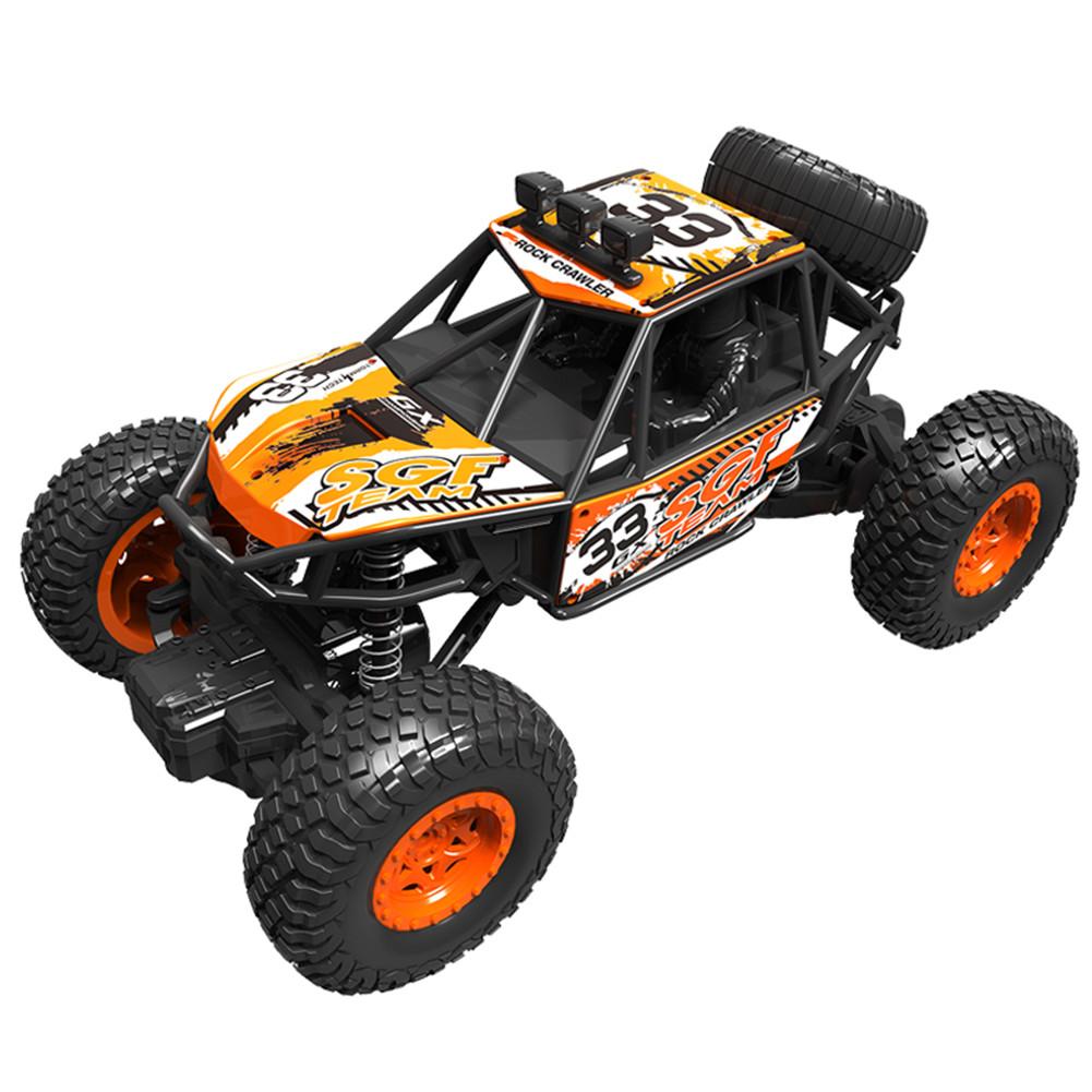Electric Off-road Remote Control Car 1: 20 Wireless Charging Four-Wheel Drive Climbing Car Boy Toy Orange