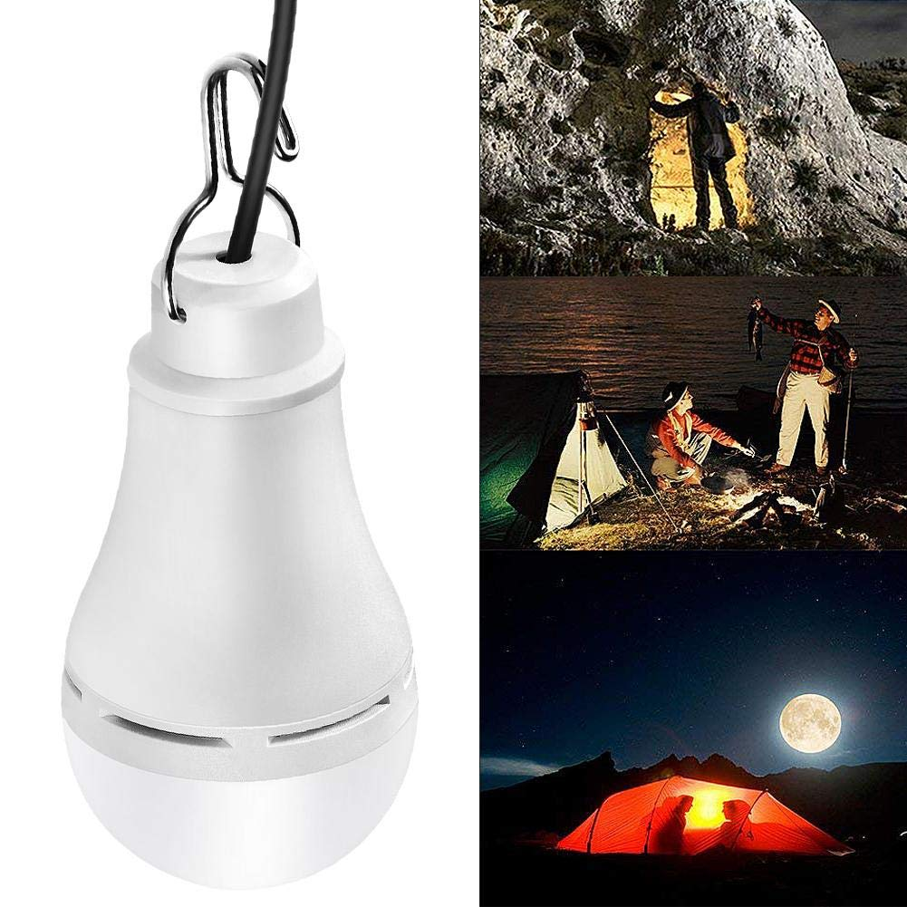 USB 5V 5W LED Ball Bulb with Touch Dimming Function for Camping 3000K