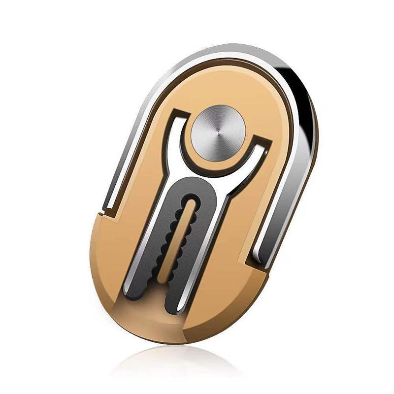Multipurpose Mobile Phone Bracket Holder Rotation Stand Phone Ring Finger Kickstand  yellow