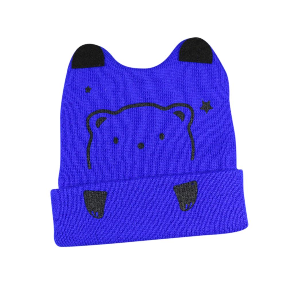 Baby Creative Cartoon Bear Shape Beanie Hat Breathable Cute Cap for Winter Autumn