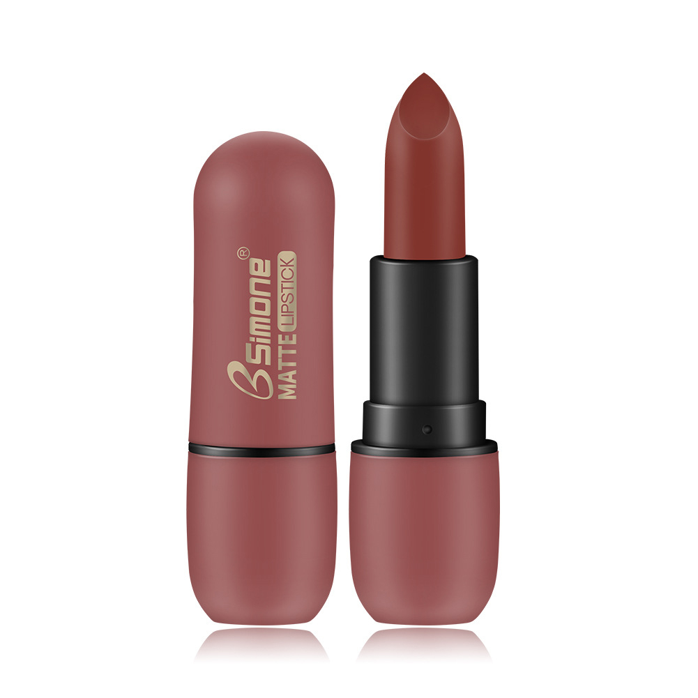 BSIMONE waterproof matte lipstick lasting matte velvet lipstick 01# caramel color