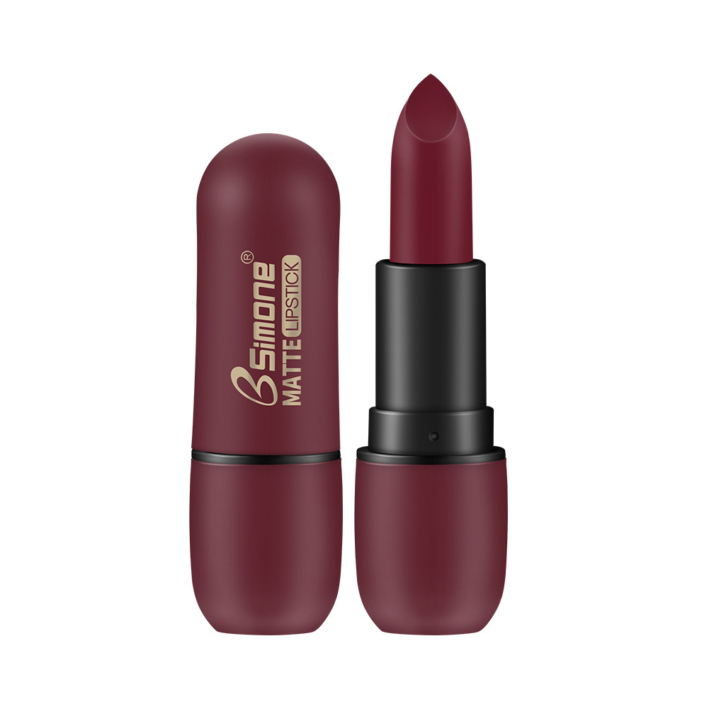BSIMONE waterproof matte lipstick lasting matte velvet lipstick 04#Berry color
