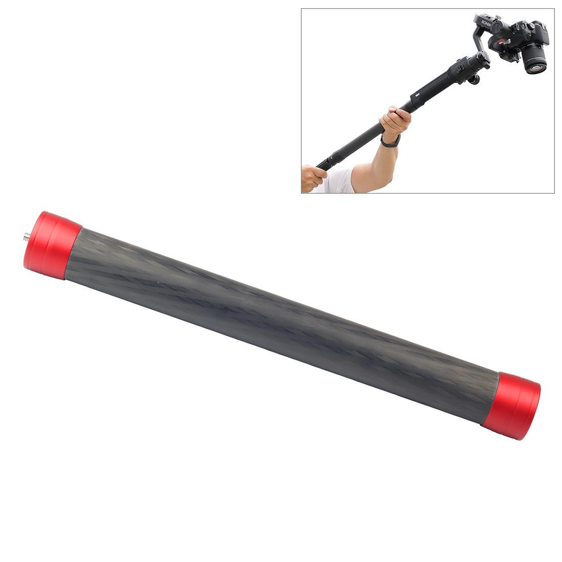 Carbon Fiber Extension Monopod Pole Rod Extendable Stick for Dji Moza Feiyu V2 Zhiyun G5 Spg Gimbal red