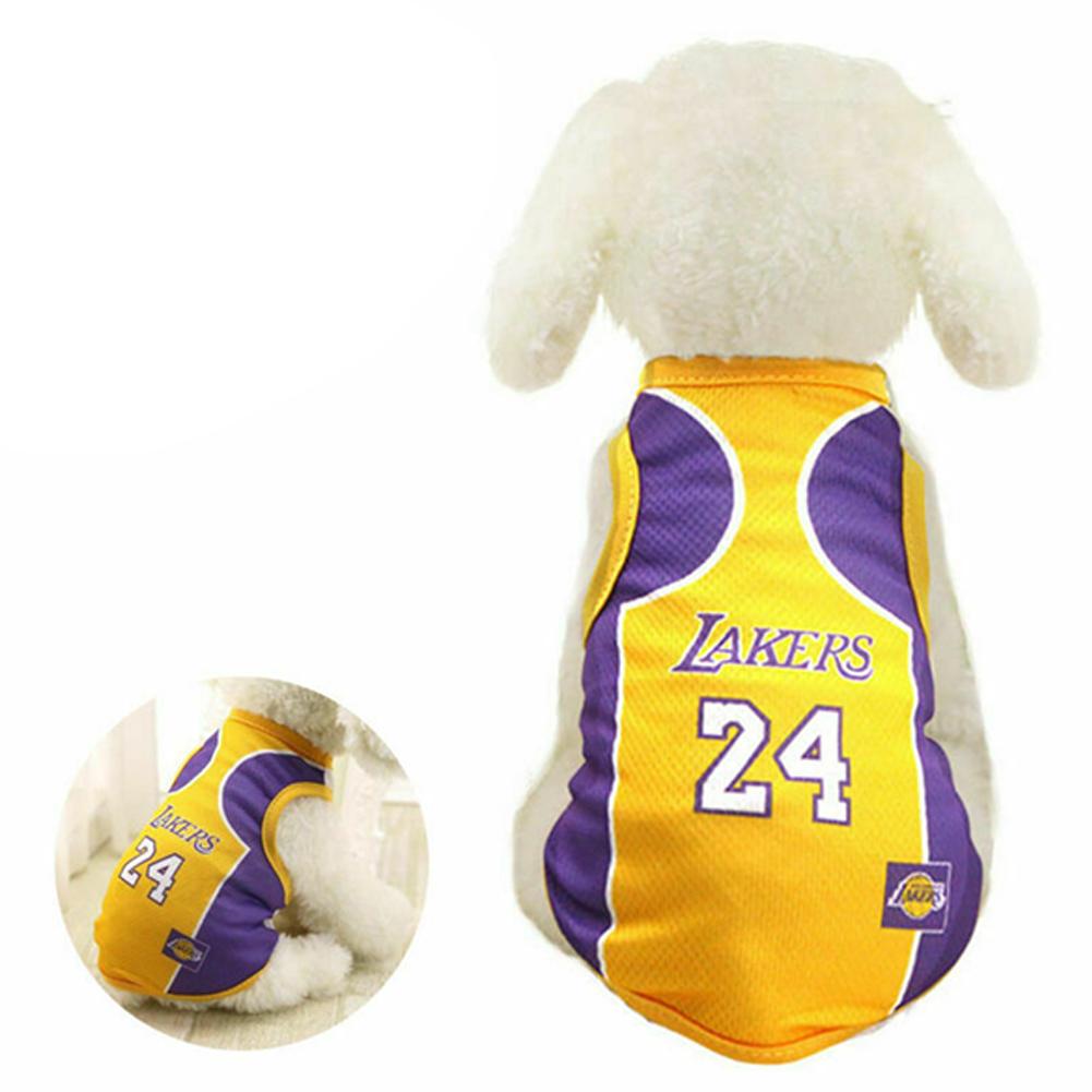 Pet Dog Basketball Game Vest for Puppy Golden Retriever Samo Clothing  purple_M