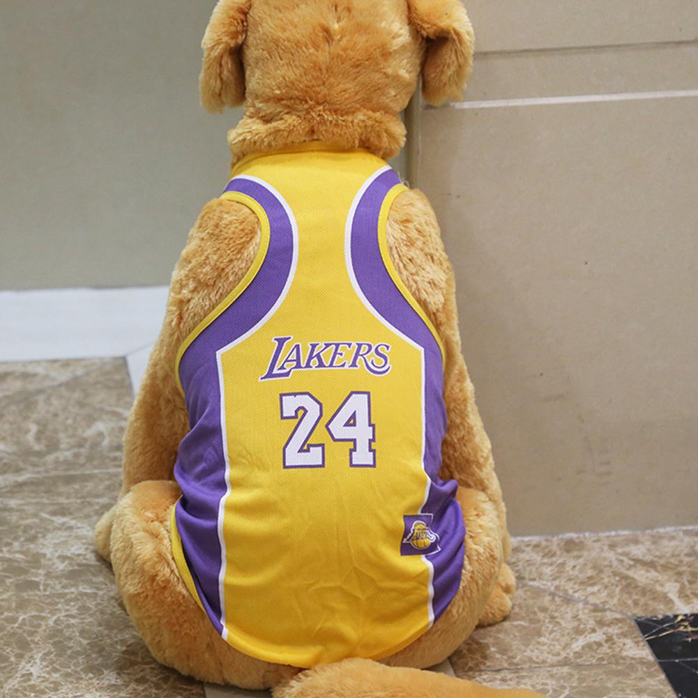 Pet Dog Basketball Game Vest for Puppy Golden Retriever Samo Clothing  purple_XL