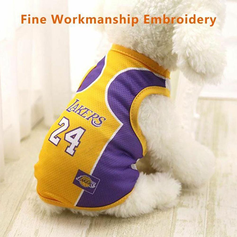 Pet Dog Basketball Game Vest for Puppy Golden Retriever Samo Clothing  purple_S