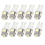 10 pack T10 194,168,2825, 5 x 5050 SMD LED Super Bright Car Lights Lamp Bulb-Cool White