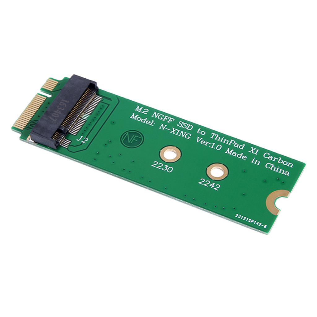 M.2 NGFF SATA SSD to 20 + 6-pin 26-pin Adapter Converter for Lenovo ThinkPad X1 Carbon green