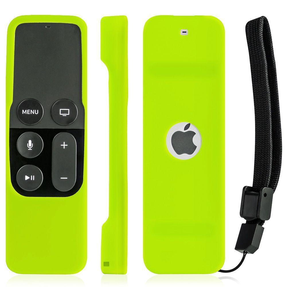 Silicone Remote Controller Case Protective Cover Skin for Apple TV 4th Gen Siri Remote Control Green