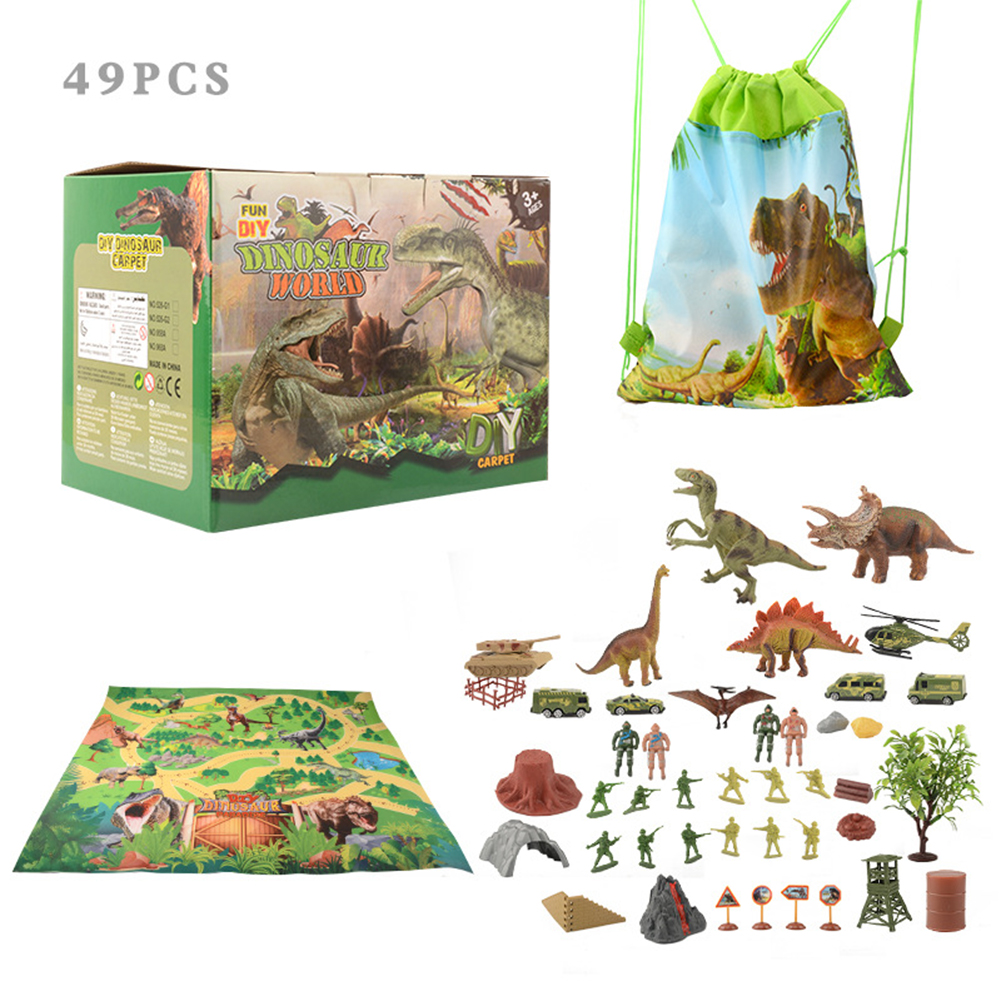 Simulation  Dinosaur  Carpet  Toys Simulation World Scene Game Mat Toy For Kids Dinosaur World Carpet Set