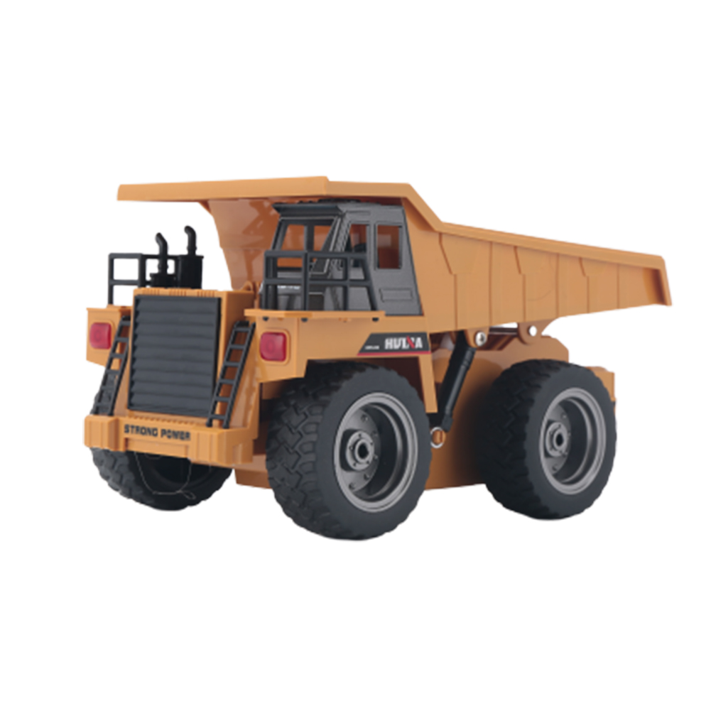 RC Engineering Car HuiNa Toys 1540 Six Channel 1/18 RC Metal Dump Truck Charging RC Car Model Toy as shown