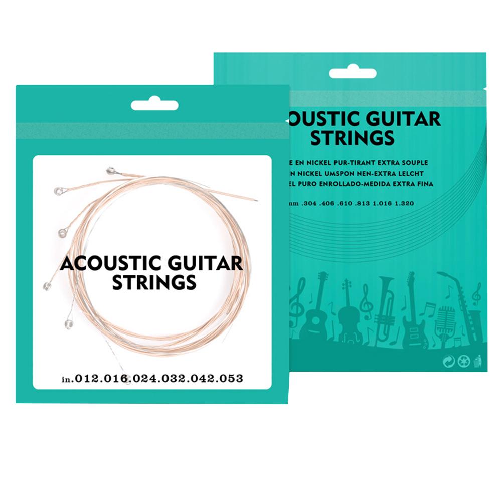 Debbie AGS-01 Acoustic Guitar Strings Red Copper 012 Coating Super Light Guitar Strings
