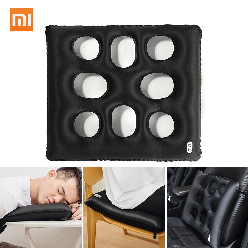 Xiaomi ZaoFeng Multi-function Inflatable Cushion TUP Anti-leakage Porous Milk Silk Composite Fabric Lightweight Backrest black