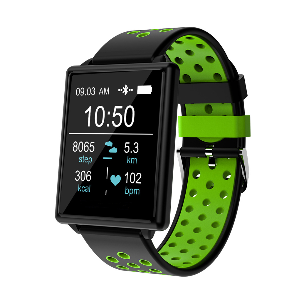 Green Blood Pressure Detector Smart Watch