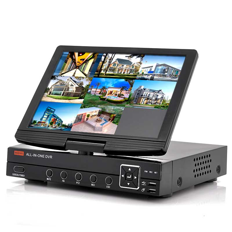 8CH DVR With 10 Inch Flip Out Screen