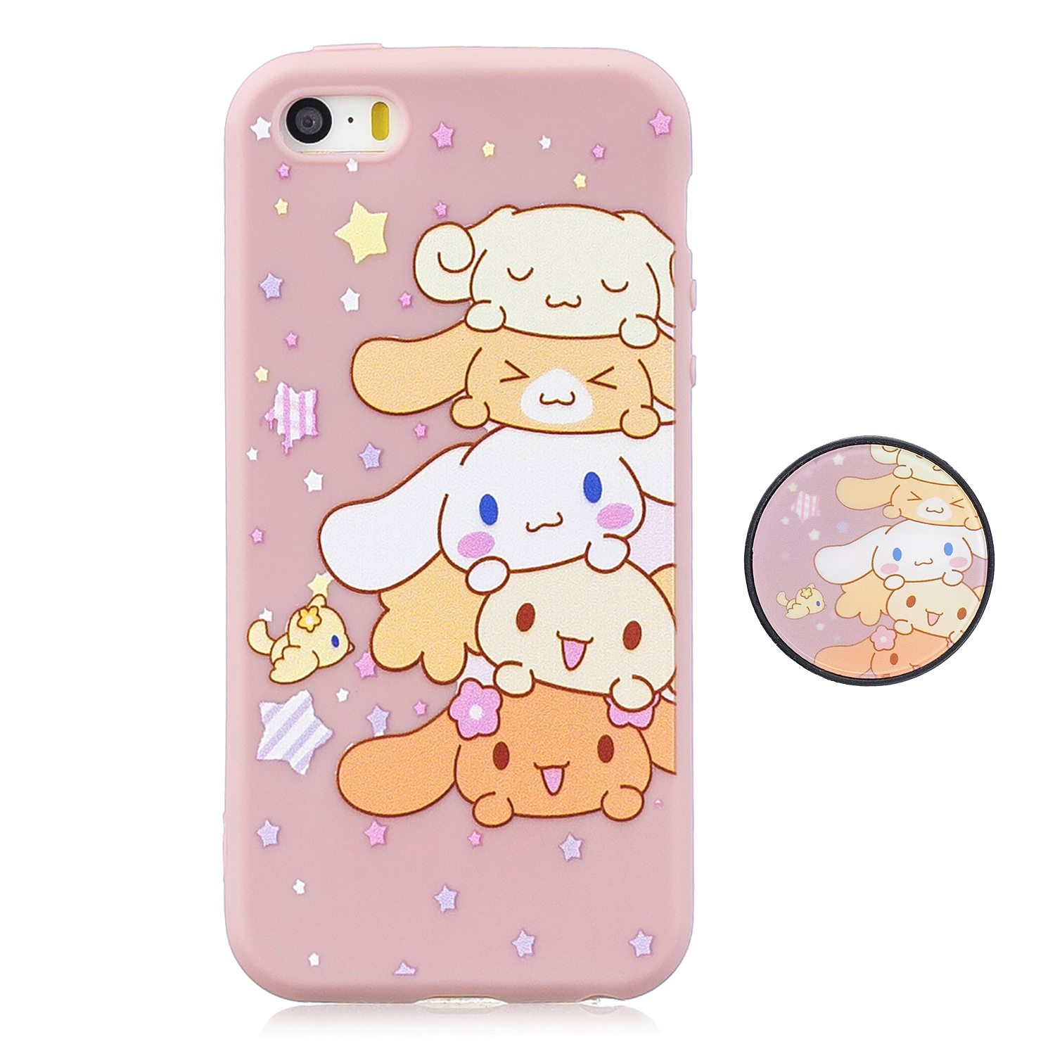 For iPhone 5 5S SE Phone Cases TPU Full Cover Cute Cartoon Painted Case Girls Mobile Phone Cover 1