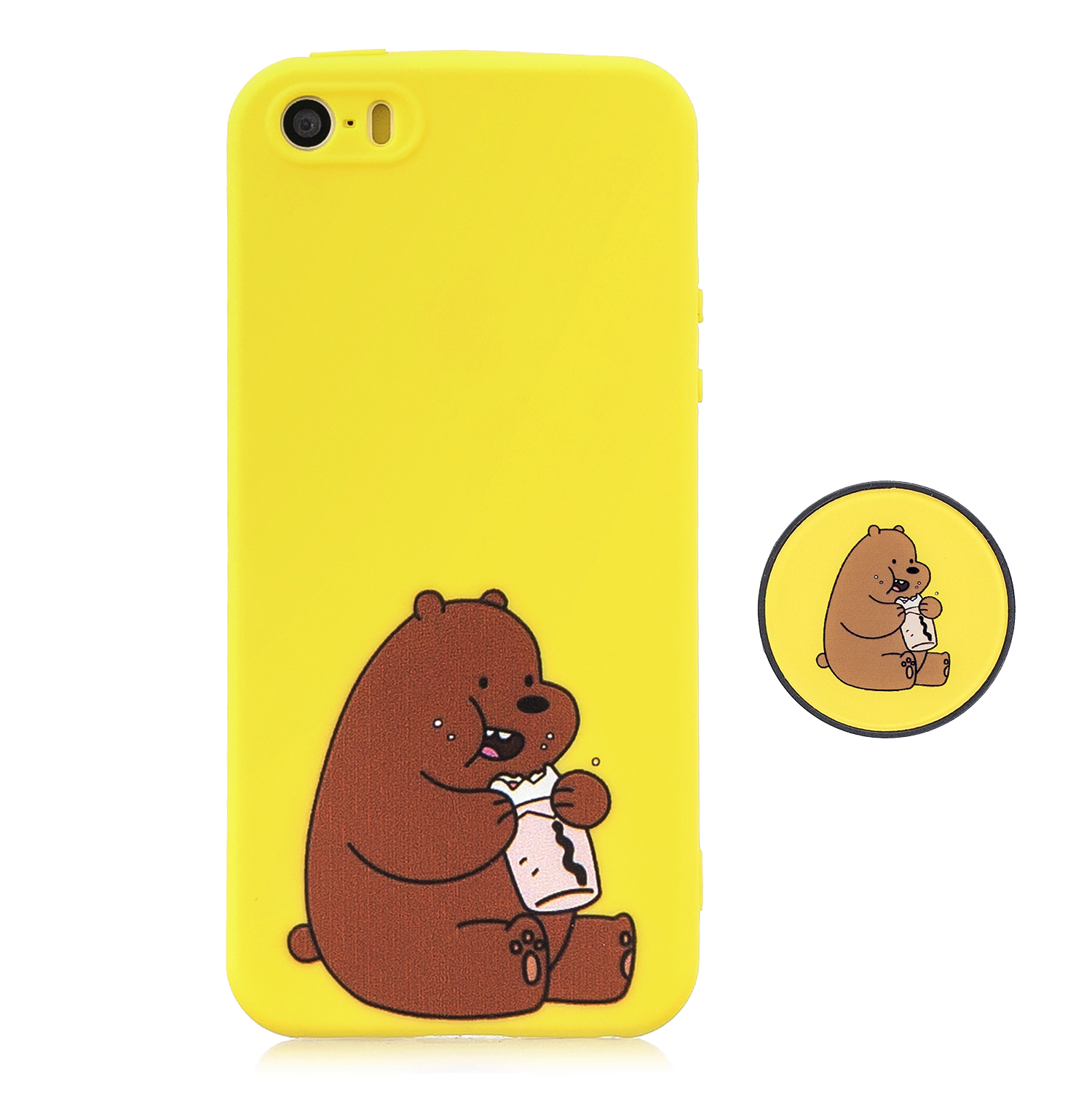 For iPhone 5 5S SE Phone Cases TPU Full Cover Cute Cartoon Painted Case Girls Mobile Phone Cover 8