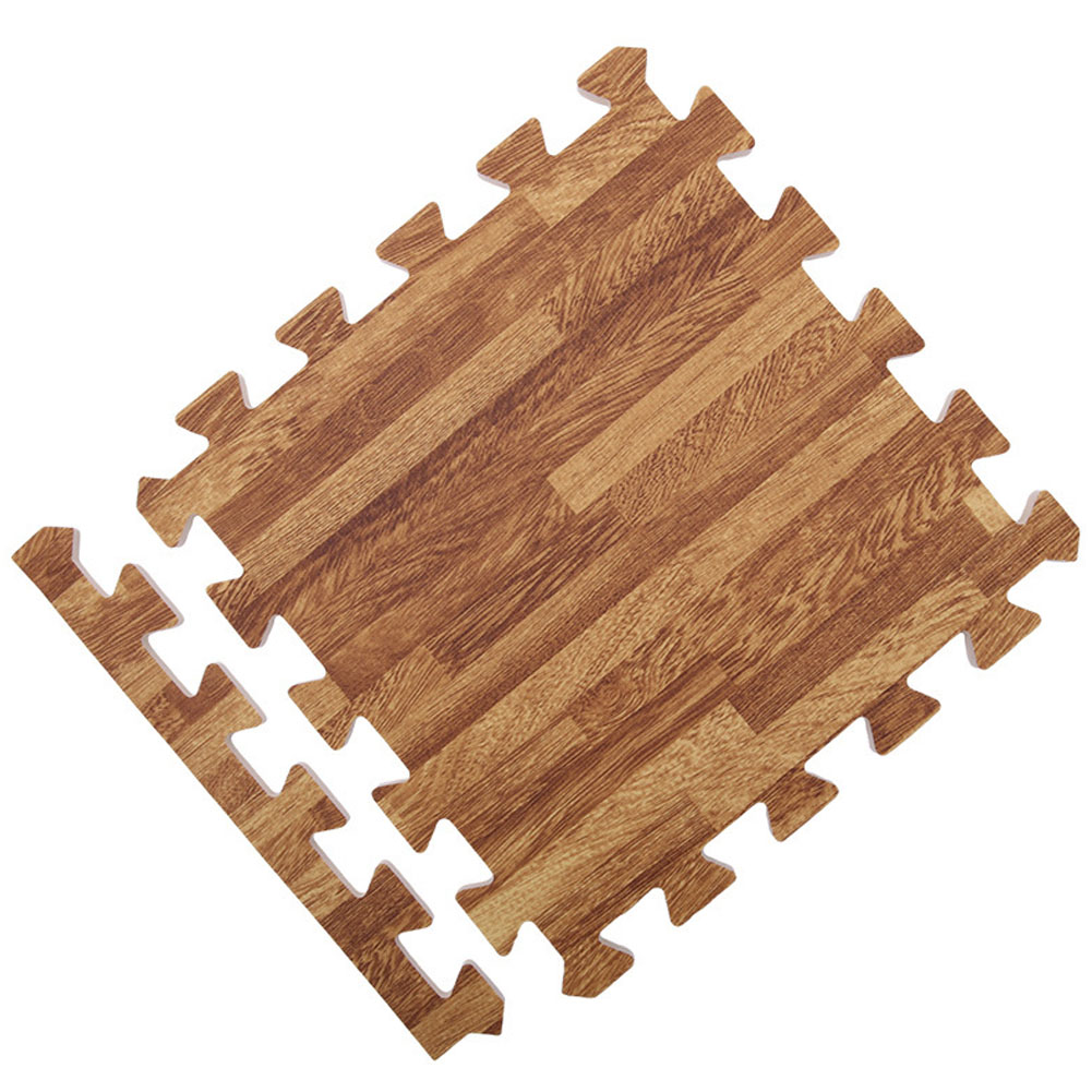 30x30x1cm Baby Split Joint Puzzle Mat Wood Grain Play Creeping Climbing Game Pad - 6pcs/set Dark 6pcs_30*30*1.0cm
