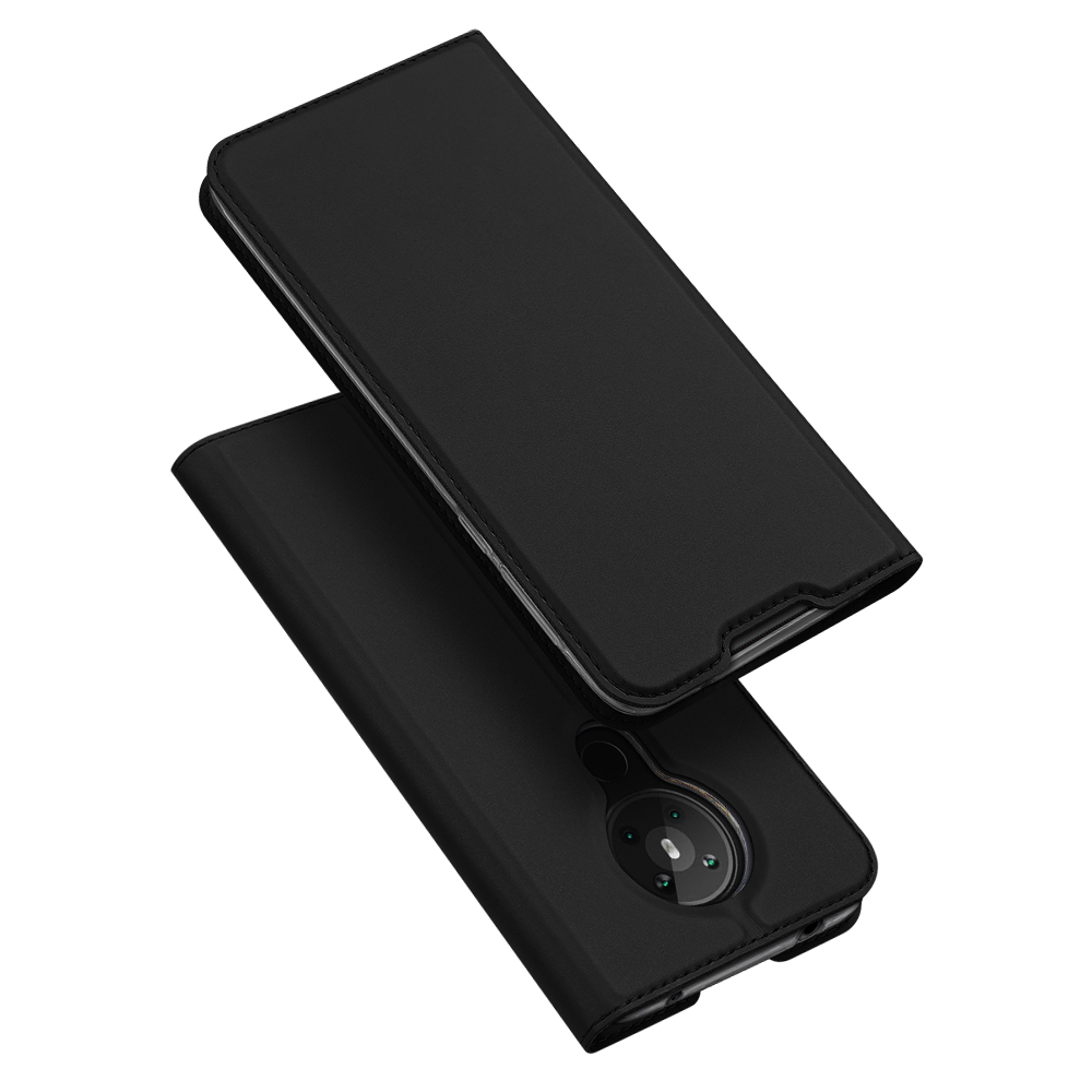 DUX DUCIS for Nokia 5.3 Leather Mobile Phone Cover with Bracket Card Slot Magnetic Protective Case black