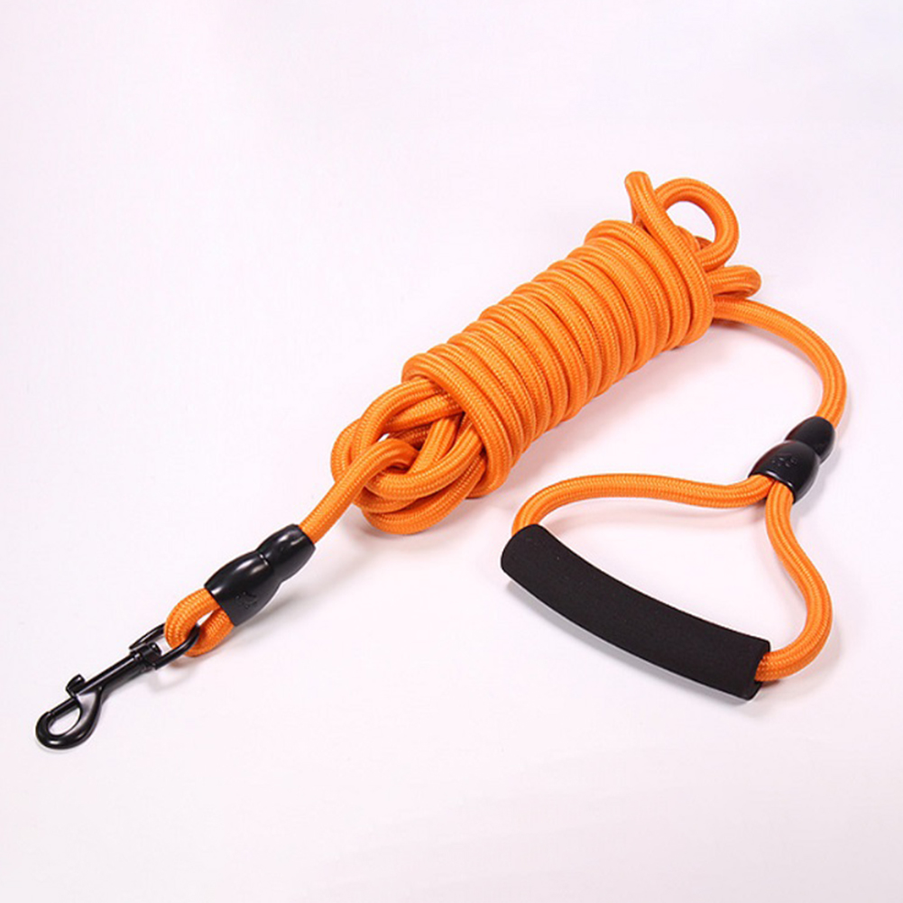 Pet Dog Leash Training Tracking Obedience Long Dog Chain for Outdoor Orange_3 meters
