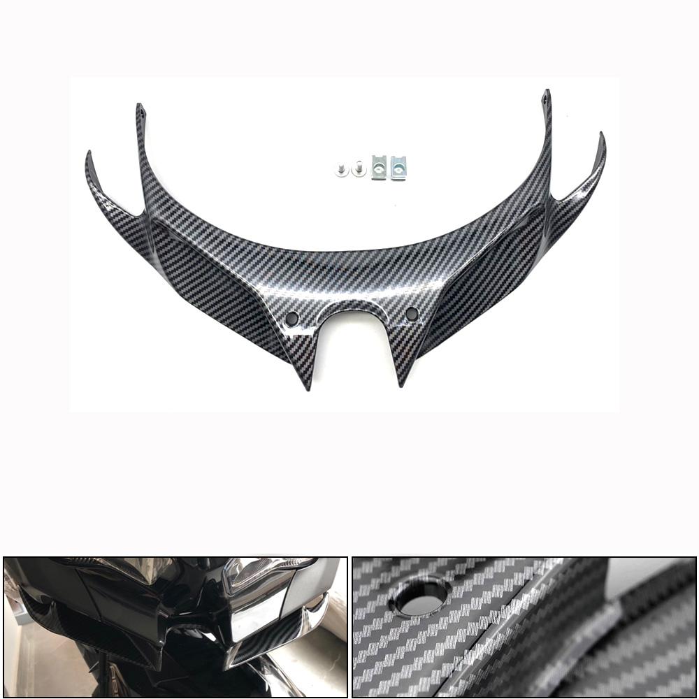 Motorcycle Wind Flow Fixing Wing Front Fairing Pneumatic Lip Cover for KAWASAKI NINJA250/400 Carbon fiber