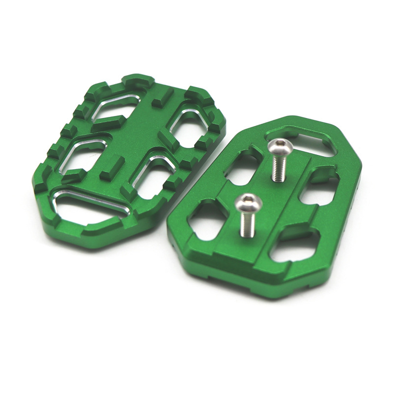 Motorcycle Billet Wide Foot Pegs Pedals Footrest For Kawasaki Versys 650/1000 X300 green