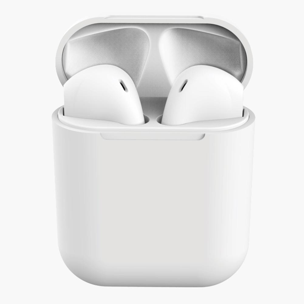 Tws Macaron I12 Wireless Headphones Bluetooth Earphone Headset Super Bass Sound Earbuds White