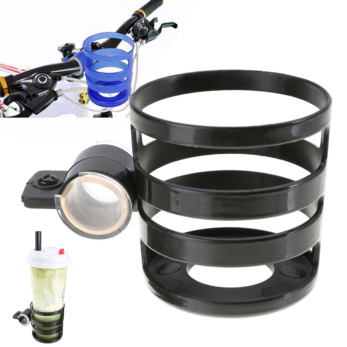 Bicycle Water Bottle Cup Holder - Black