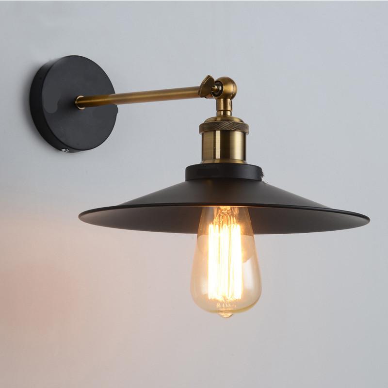 Loft Vintage Wall Lamp Metal Glass Retro Antique Ceiling Lamp Metal Industrial Decor Lighting Matte Black_Twenty-one