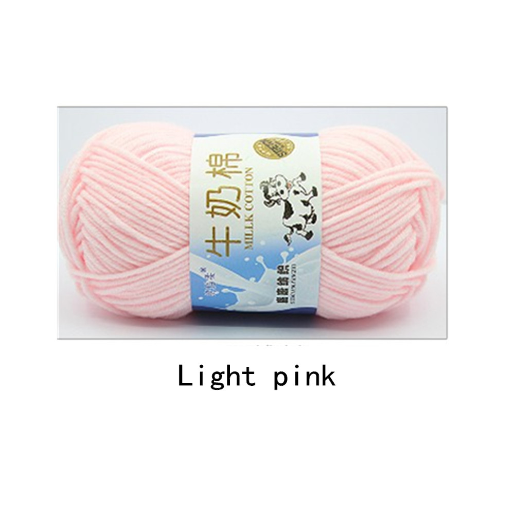 Hand Knitting Cotton Knitting Wool Doll Thread for Knitting Scarves Gloves Clothes Light pink