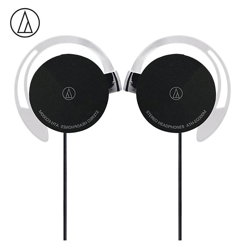 Original Audio Technica ATH-EQ300M Wired Earphone Sport Ear Hook Earphone Music Headset Ear Hook Sport Headphone Surround Bass Universal for Smartphone black