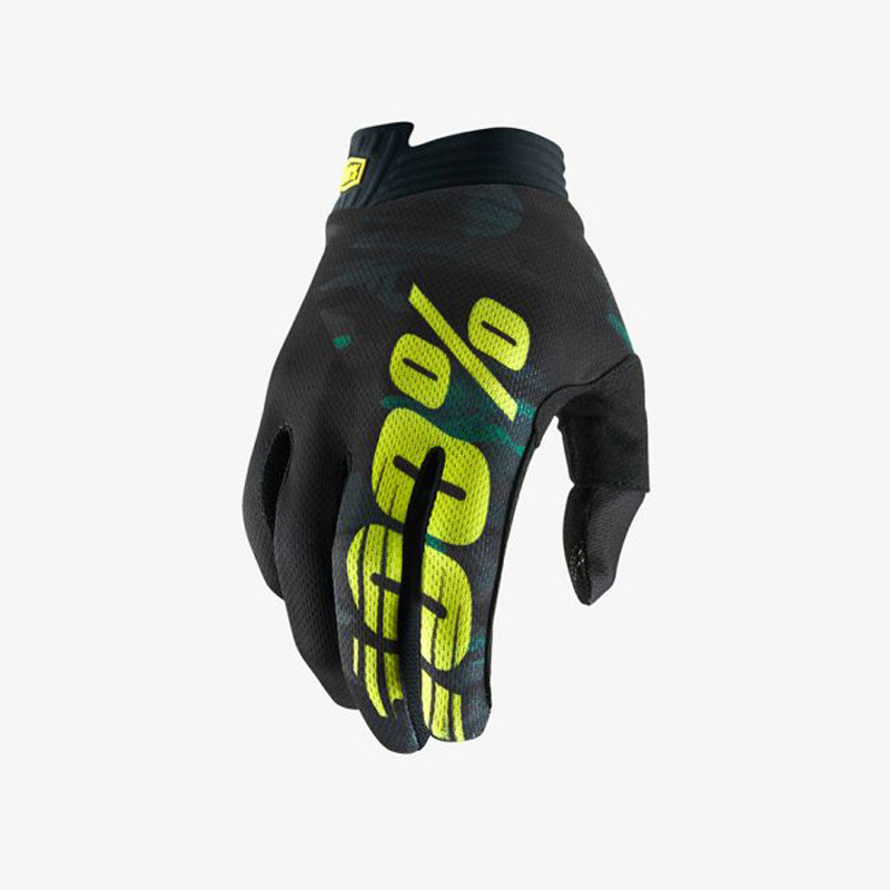 Motorcycle Gloves Mountain Bike Racing Glove Locomotive Delicate Motorsport MTB Bike Motorcycle Gloves  light green Letter_M