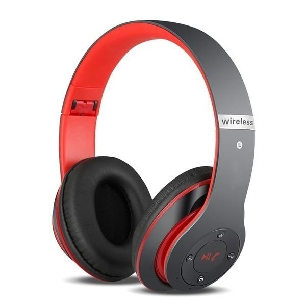 Wireless  Bluetooth  Headset Bluetooth 4.1 Earphone Long Lasting 6s Headset Usb Charging Black red