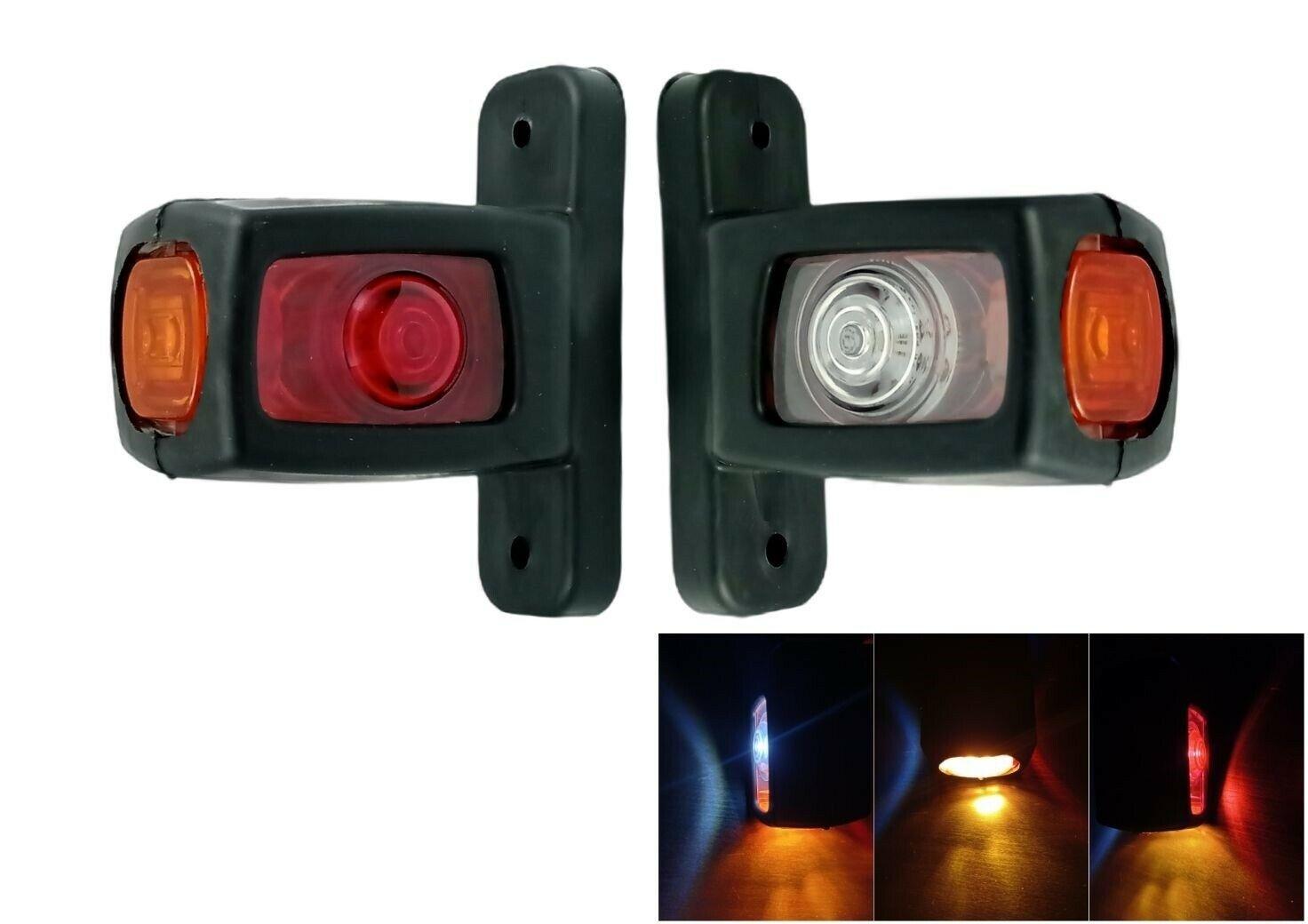 1 Pair Side  Marker  Light 12v 24v 4 Led Waist Light Heavy Truck Trailer Arm Light 1 pair