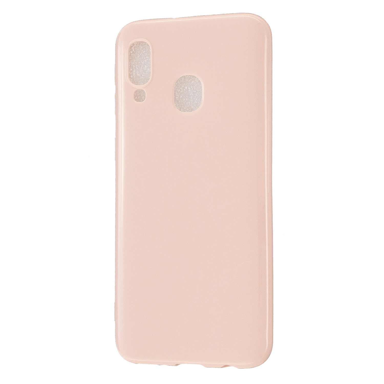 For Samsung A20E/A40/A70 Cellphone Cover Soft TPU Phone Case Simple Profile Scratch Resistant Full Body Protection Shell Sakura pink