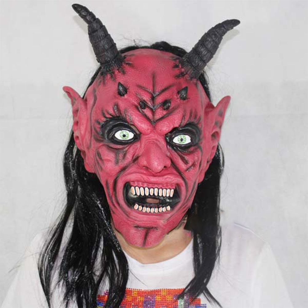Mask Satan Devil April Fool's Day Halloween Dance Performance Red Devil Mask Ghost Mask of Terror red