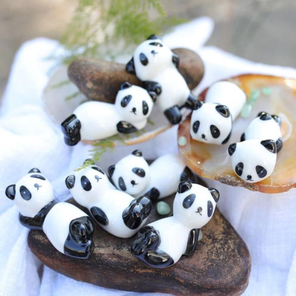 3PCS Cute Porcelain Panda Chopstick Rest Exquisite Chopstick Holder Kitchen Supplies (Random Style) 3pcs