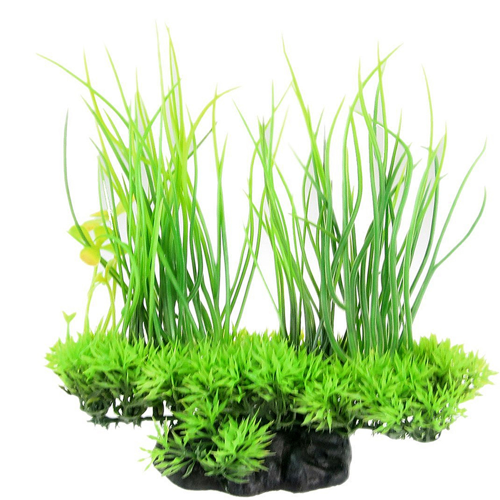 Simulate Plastic Artificial Green Water Grass Aquarium Underwater Plant for Fish Tank Decoration Ornament Accessories green