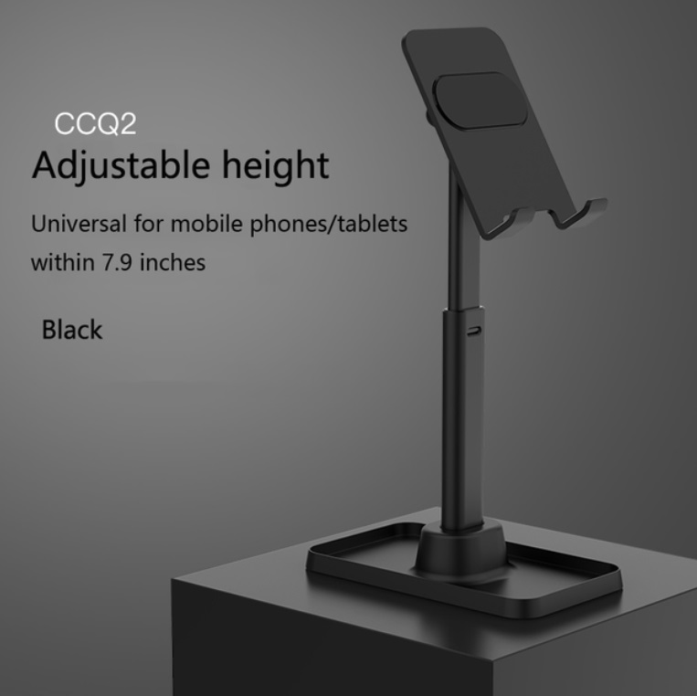 Mobile Phone Tablet Holder Portable Telescopic Desktop Stand Phone Holder Stand Cell Phone Stand Universal Q2 black