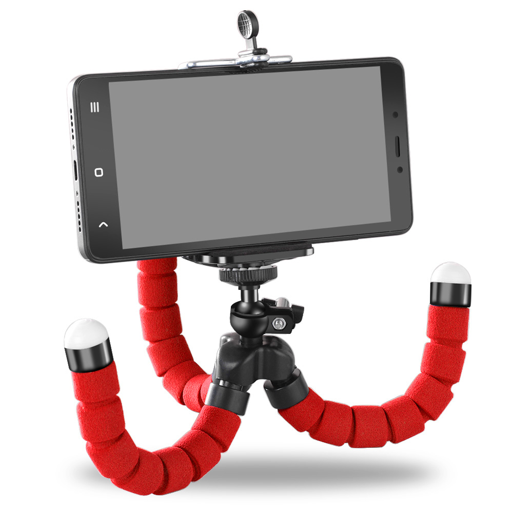 Octopus Selfie Stand Mount Support Red